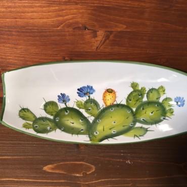 Rectangular bowl Prickly pear - Green