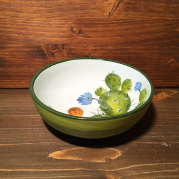 Small Low Bowl Prickly pear - Green
