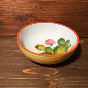 Small Low Bowl Prickly pear - Orange