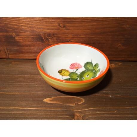 Small Low Bowl Prickly pear - Orange