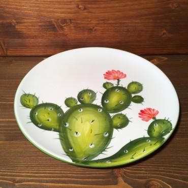 Teller Kaktusfeige