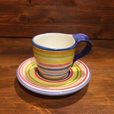 Kaffeetasse Espresso mit Streifen verzierter