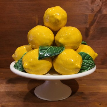 Alzata tonda 10 Limoni 6 Foglie