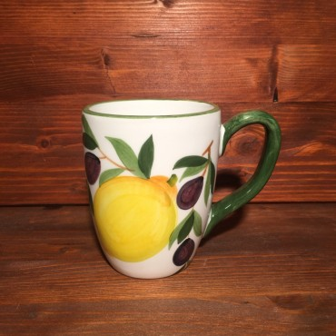 Cup Mug Coffee Cappuccino Tea Lemons and Olives