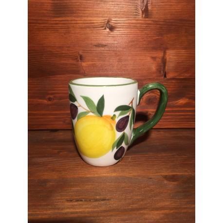Cup Mug Coffee Cappuccino Tea Lemons and Olives