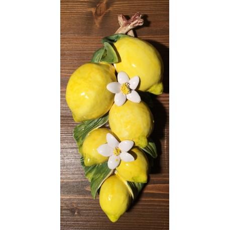 6 Zitronen und Blumen