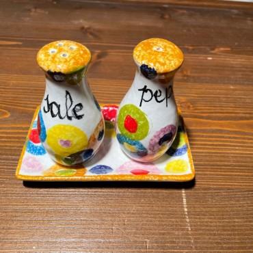 Salz und Pfeffer Set Farbige Kreise