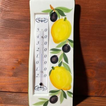 Wandthermometer - Zitronen und Oliven
