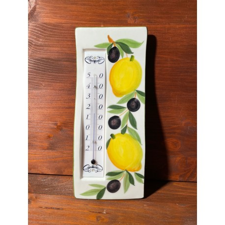 Wall thermometer - Lemons and Olives