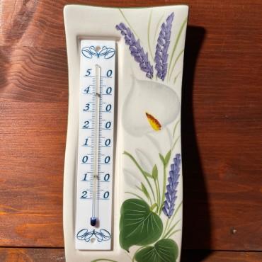 Wandthermometer - Calla und Lavendel
