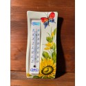 Wall thermometer - Sunflower and Butterfly
