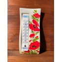 Wall thermometer - Poppies