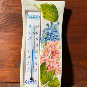 Wall thermometer - Hortensien