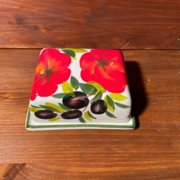 Butter Dish Tomato and Olive