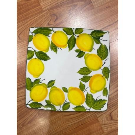 Nev plate with lemon decoration