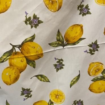 Tovaglia in Cotone Limoni