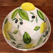 Bowl Cone Lemons Olives Relief