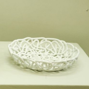 Vaso intreccio corda bianco