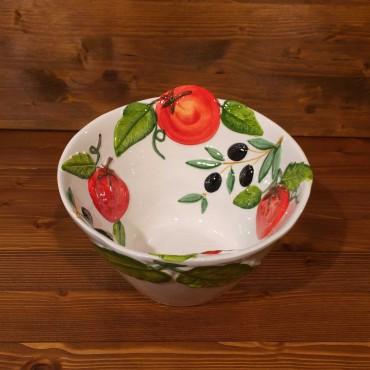Ciotola cono Pomodori Olive rilievo