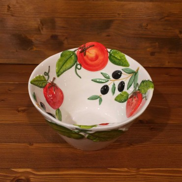 Relief Olive Tomato Cone Bowl
