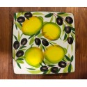 Nev plate with lemon and olive decoration