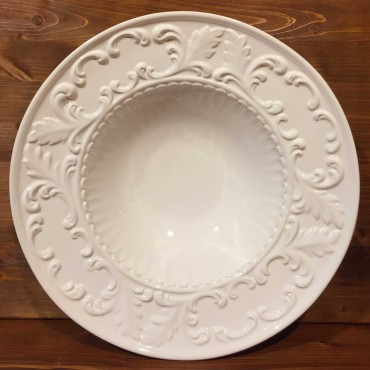 Round bowl embossed empire style