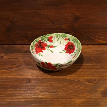 Small Bowl Giada Poppy Flowers