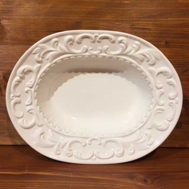 Oval bowl in relief empire style.