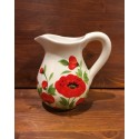 Pitcher with Poppies decoration,