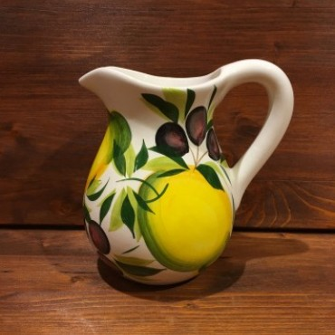 Pitcher with Lemon and Olive decoration