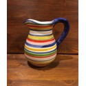 Pitcher with lines decoration