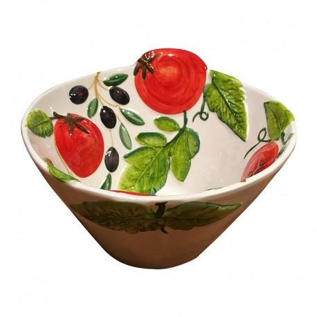 Schüsseln Tomaten und Oliven